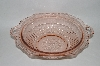 "**Large Vintage Pink Depression Glass ""Mayfair"" Handled Bowl"