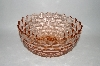 "**MBA #60-276  "" Large Vintage Pink ""Cube"" Serving Bowl"
