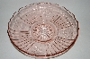 "** Vintage Pink Glass ""Mayfair  Open Rose"" Serving Dish"