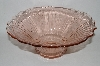 "**Large Vintage Pink Glass ""Mayfair Open Rose"" Serving Bowl"
