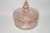 "+MBA #60-268   ""1930's Vintage Light Pink Fancy Toped Candy Dish"