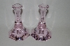 "**MBA #60-105   "" Newer Light Pink Tall Candle Stock Holders"