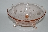 "** Vintage Pink Glass ""Jubilee"" 8"" Bowl"