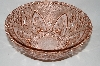 ** Vintage Pink Glass Large Fancy Rose Bowl