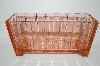 **Vintage Pink Depression Glass Fancy Square Dish
