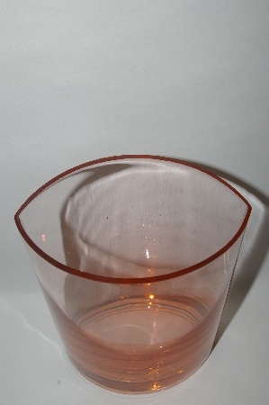 **Vintage Dark Pink Fancy Shaped Glass Vase