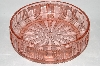 ** Vintage Pink Glass Round Fruit Bowl