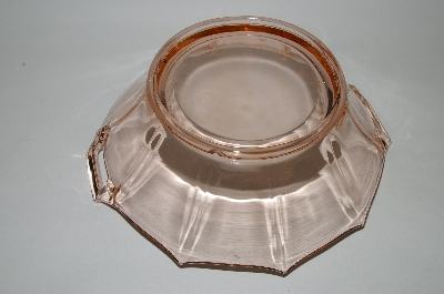 **MBA #60-151  Vintage Pink Depression Glass Square Handled Bowl