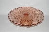 "**MBA #57-143   "" Reproduction Pink Glass Large Pedestaled Cake Salver"