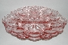 "**MBA #60-112  ""Vintage Pink Glass Deviled Egg Serving Dish"