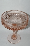MBA #61-113   Vintage Pink Depression Glass Large Compote