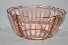"**Vintage Pink Depression Glass ""Large"" Fancy Bowl"