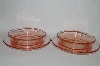 "**MBA #61-005   "" Set Of Two Vintage Pink Depression Glass ""Snack Dish"" Attached Bowl & Saucer"