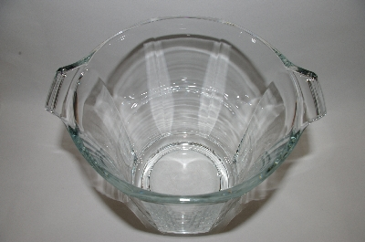 **Very Large Vintage Clear Glass Ice Bucket