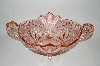 "** Vintage Pink Glass ""Deutschland"" Very Fancy Bowl"
