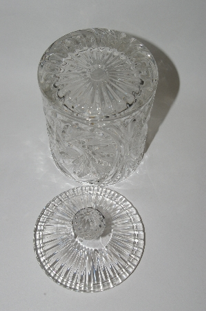 "**MBA #61-169      ""Cut Crystal Candy Dish With Lid"""
