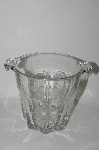 +MBA #61-116   Very Fancy Vintage Clear Glass Ice Bucket