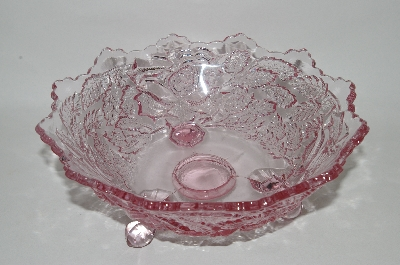 "**MBA #61-124   ""Very Fancy Cut Light Lavender Glass ""Rose Bowl"""