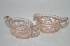 ** Vintage Light Pink Depression Glass Cream & Sugar Set