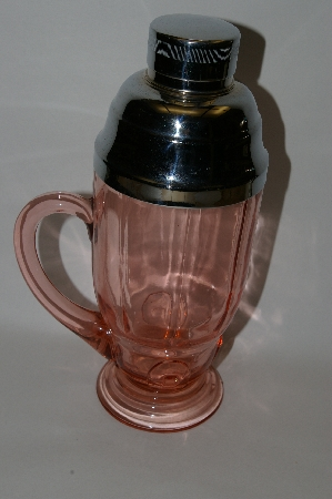 **MBA #61-138  Vintage Pink Depression Glass Cocktail Mixer