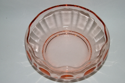 ** Vintage Pink Depression Glass Fancy Bowl