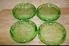 **Set Of 4 Green Glass Coasters #4778