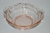 **Vintage Pink Depression Glass Fancy Handled Serving Dish