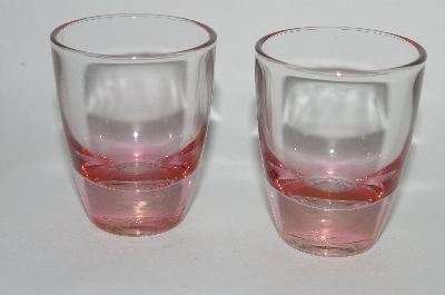 "** MBA #61-200  Vintage Pink Glass ""Shot Glass's"" Set of 4"