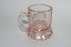 "** Vintage Pink Depression Glass ""Beer Mug Style"" Shot Glass"