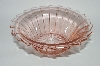 "**Set Of 7 Vintage Pink Depression Glass ""Sierra/Pinwheel"" Cereal Bowl"