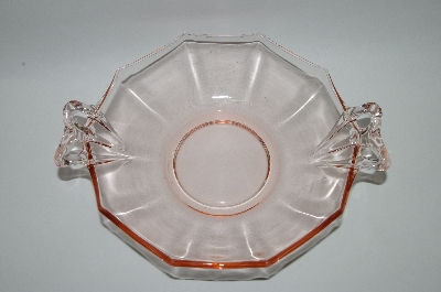 """SOLD""  MBA #62-016 Vintage Pink Depression Glass ""Fostoria Fairfax"" Sweetmeat Serving Bowl"