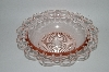 "**Vintage Pink Depression Glass ""Old Colony"" Serving Bowl"