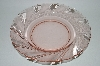 "**Vintage Pink Glass. ""Vereco"" Clear Pink & Satin Glass Salad Bowl"