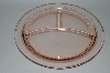 "+MBA #62-068  Vintage Pink Depression Glass ""Grill Plate"""
