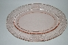 """Sold""  MBA #62-212   ""  Vintage Pink Depression Glass Oval ""Ribbions & Bows"" Platter"