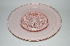 "**Vintage Pink Depression Glass ""Fancy Centered"" Round Platter"