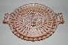 "**MBA #62-141  "" Vinatge Pink Depression Glass ""Windsor""  Two Handled Platter"