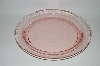 "**Vintage Pink Depression Glass ""Round"" Tray"
