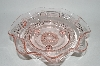 "** Vintage Pink Depression Glass ""Ruffled"" Bowl"