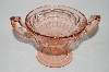 "MBA #62-219  Vintage Pink Depression Glass ""Fancy"" Compote"