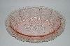 """SOLD"" MBA #62-145   Vintage Pink Depression Glass ""Oval Cherry Blossom"" Fruit Bowl"