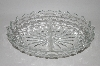 "+MBA  ""Vintage Clear ""Cube"" Depression Glass 2 part Relish Dish"