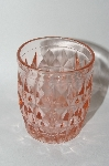 "**Vintage Pink depression Glass ""Windsor Diamond"" Juice Tumbler"