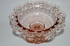 "+MBA #63-281  Vintage Pink Depression Glass ""Old Colony""  Lace Edge Candy Dish"
