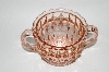 "**Vintage Pink Depression Glass ""Windsor Diamond"" Sugar Bowl"