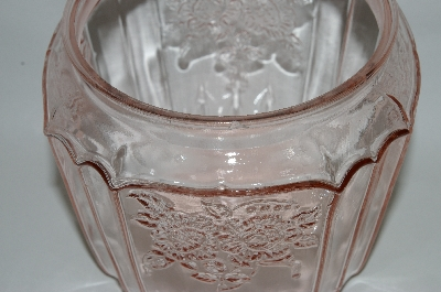 "MBA #63-208  Vintage Pink Depression Glass ""Mayfair Rose"" Cookie Jar"