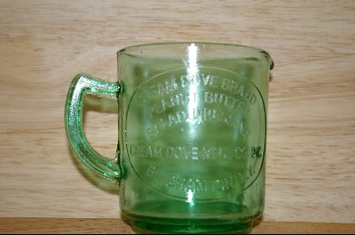 **Reproduction Green Glass Measuring Cup #4825