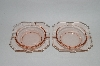 "**MBA #63-336  Vintage Pink Depression Glass ""Ashtrays"" Set Of 2"