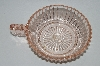 "** Vintage Pink Depression Glass ""Fortune Tab Handled"" Bowl"