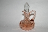 "MBA #63-191  Vintage Pink Depression Glass ""Cruet"" With Clear Glass Stopper"
